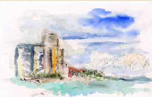 Singer Island Original Watercolor on Paper