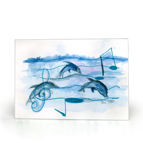 Dolphins & The Sea Glass Cutting Boards