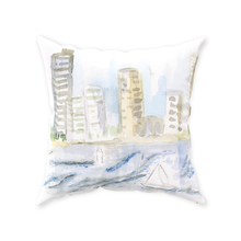 """At Port in Cartagena Columbia  #1""Throw Pillow"