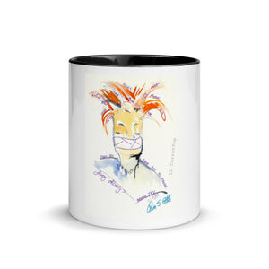 """LL CarrotTop"" Mug with Color Inside"