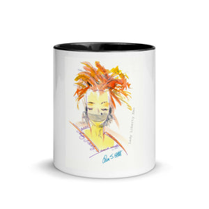 """Lady Liberty Emo"" Mug with Color Inside"