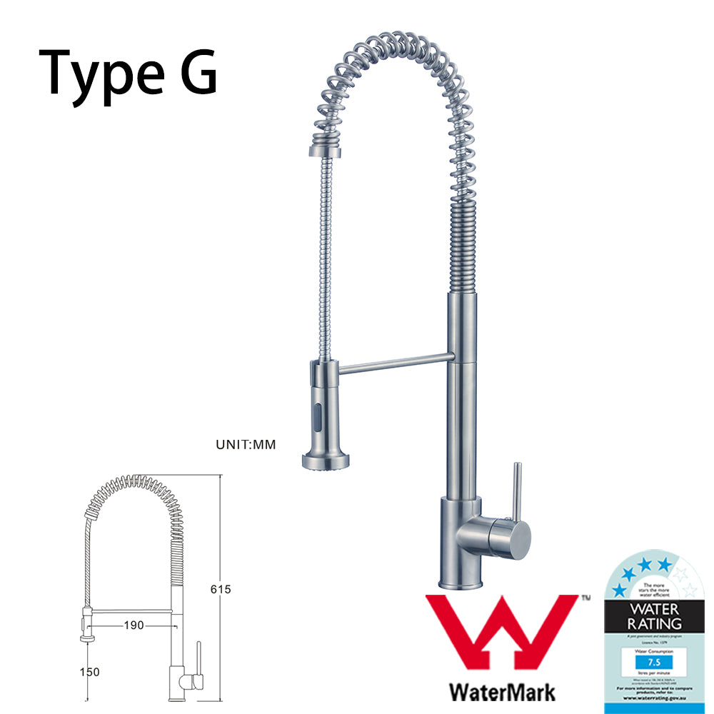 WELS Kitchen Bathroom Laundry Shower Water Basin Mixer Tap Vanity Sink Faucet -Type G