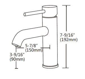WELS Kitchen Bathroom Laundry Shower Water Basin Mixer Tap Vanity Sink Faucet -Type A