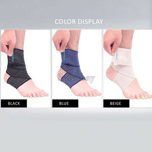High Elastic Elbow Wrist Ankle Support Brace Bandage Compression Wrap Strap 90CM