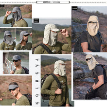 Load image into Gallery viewer, Mens Neck Flap Hat Wide Brim Cap Face Unisex Hiking Fishing UV Sun Protection Dark Grey