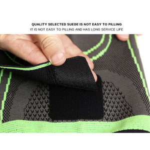 3D Weaving Knee Brace Elastic Sleeve Support Compression Arthritis Sports Leg