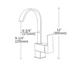 Kitchen Bathroom Laundry Shower Water Basin Mixer Tap Vanity Sink Faucet WELS-Type I