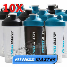 Load image into Gallery viewer, 10X GYM Protein Supplement Drink Blender Mixer Shaker Shake Ball Bottle 700ml