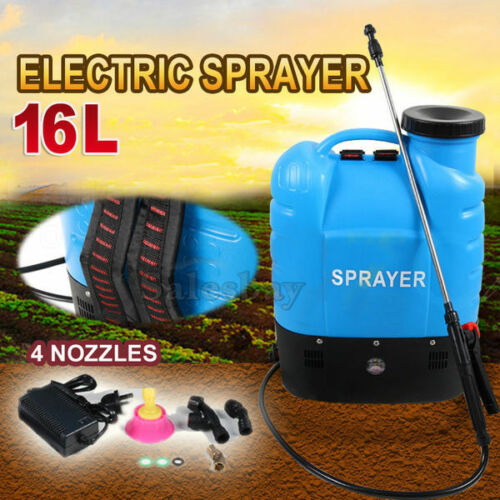 12V 16L Electric Weed Clean Sprayer Rechargeable Backpack Farm Garden Garage Home Pump Spray