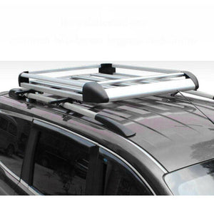 160*100 Silver Double Aluminium Alloy SUV 4x4 Roof Rack Basket Cargo Luggage Carrier Box
