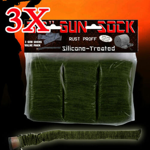 Hunting 3X Gun Sock Cover Silicone Treated 52