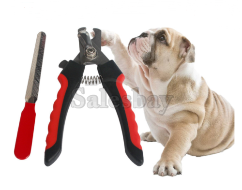 Stainless Steel Pet Nail Clipper SET Grooming Dog Cat Rabbit Toe Claw Paw Cutter