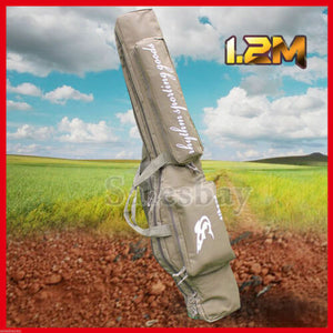 Adjustable 1.2m Hunting Shooting Carry Case Shotgun Rifle Gun Sip Double Bag Tan