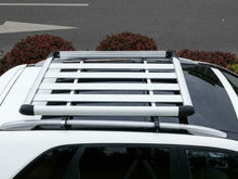Load image into Gallery viewer, 160*100 Silver Single Aluminium Alloy SUV 4x4 Roof Rack Basket Cargo Luggage Carrier Box