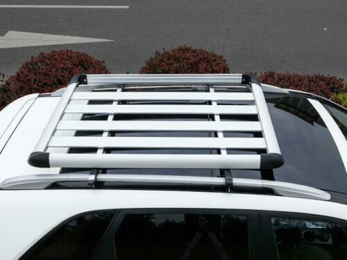 160*100 Silver Single Aluminium Alloy SUV 4x4 Roof Rack Basket Cargo Luggage Carrier Box
