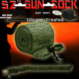 "Hunting Gun Sock Cover Silicone Treated 52"" Rifle Shotgun Protection Bag Case"