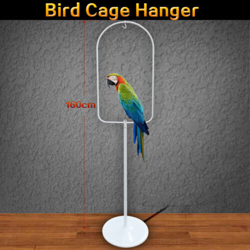 160cm Bird Cage Hanger Stand White Metal Tube Frame Canary Cages