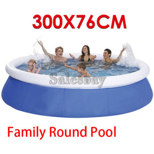 Airtime 300X76cm Air Inflatable Inflate Pool Toy Prompt Set Round