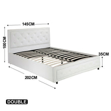 Load image into Gallery viewer, Bed Frame PU Leather Double Queen King Size Non-Gas Lift Bedroom Furniture Storage