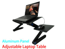 Load image into Gallery viewer, Portable Foldable Laptop Stand Desk Table Tray Adjustable Bedside w Mouse Pad