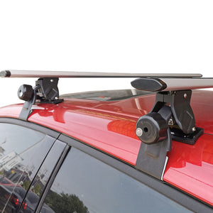 130cm Cross Bar Universal Lockable Aluminium Car Roof Rack Adjustable  Alloy Sedan Ute Luggage Carrier