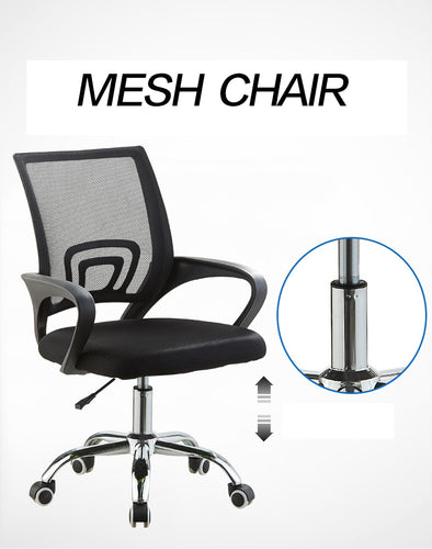 Black Executive Mesh Breathable Home Office Game Chair Computer Lumbar Support Swivel Lift