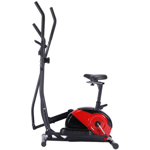 Elliptical Cross Trainer Magnetic Resistance Home Gym Exercise Bike w Adjustable Seat Pulse Sensor