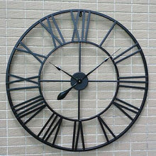 Load image into Gallery viewer, 80cm Large Round Wall Clock Metal Industrial Vintage French Provincial Antique