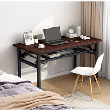 Load image into Gallery viewer, 120cm Foldable Laptop Computer Desk Workstation Study Table Storage Student Home Office Maple