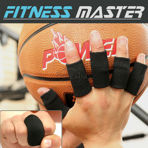 10X Finger Sleeves Sport Support Brace Thumb Protector Basketball Arthritis