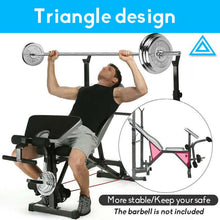 Load image into Gallery viewer, Fitness Multi Weight Bench Station Press Weights Equipment Curl Incline Home Gym