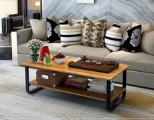 Load image into Gallery viewer, Coffee Table Wooden Top Storage Side Table Bedside Tables Round Home Office