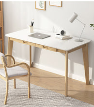 Load image into Gallery viewer, 120cm Workstation Office Computer Desk Study Table Home Storage Drawers Wooden