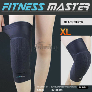 Honeycomb Pad Basketball Knee Crashproof Leg Long Sleeve Protector Support Brace