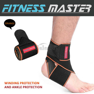 Ankle Brace Support Compression Elastic Foot Wrap Protector Sport Stabilizer