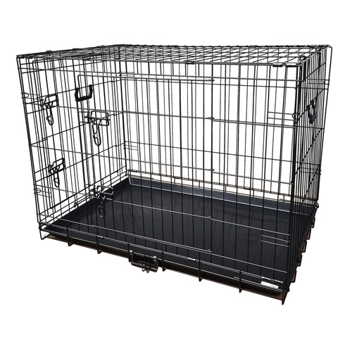 48inch Collapsible Pet Dog Cage Wire Metal Crate Kennel Portable Puppy Cat Rabbit House