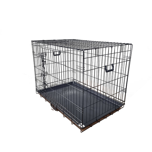 30inch Collapsible Pet Dog Cage Wire Metal Crate Kennel Portable Puppy Cat Rabbit House