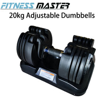 Load image into Gallery viewer, Fitness Master 20kg Adjustable Dumbbell Home Gym Exercise Equipment Weights Fitness Workout