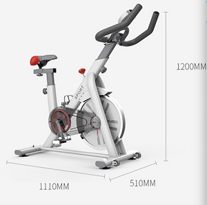 White Exercise Spin Bike Flywheel Fitness Home Gym Unique Design