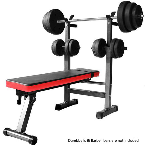 Multi-Station Foldable Bench Press Incline Home GYM Fitness Olyimpic Weights Station Rack