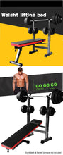 Load image into Gallery viewer, Multi-Station Foldable Bench Press Incline Home GYM Fitness Olyimpic Weights Station