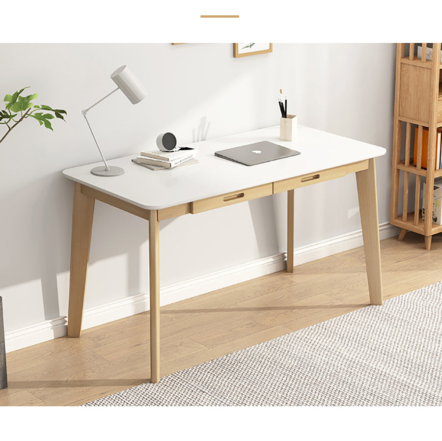 120cm Workstation Office Computer Desk Study Table Home Storage Drawers Wooden