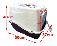 Load image into Gallery viewer, Portable Hooded Cat Toilet Litter Box Tray House With Handle and Scoop