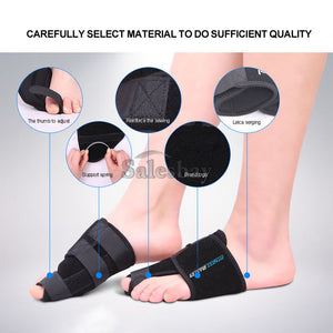 2PCS Hallux Valgus Relief Foot Pain Big Toe Corrector Bunion Splint Straightener