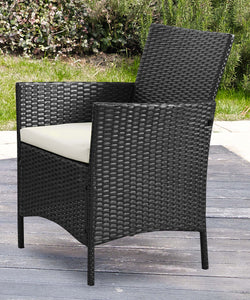 4pc Lounge Set Outdoor Furniture Rattan Wicker Chair Table Garden Patio Balcony