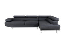 Load image into Gallery viewer, 2.8m Modern Black Right Corner Fabric Sectional Sofa Chaise Lounge Suite Couch Furniture