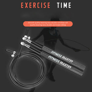 3M Steel Adjustable Dual Bearings Skipping Jump Rope Exercise GYM Boxing Speed
