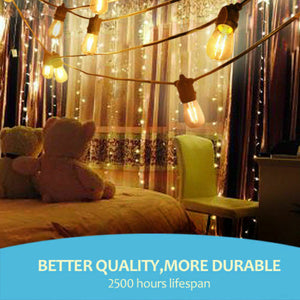10-100m LED Festoon String Lights Light Wedding Party Christmas Waterproof Outdoor