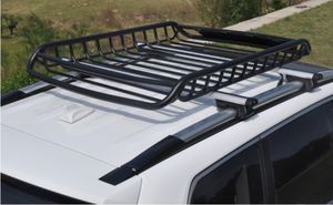 140cm Heavy Duty Universal Steel Roof Rack Basket Powder Coated Luggage Carrier