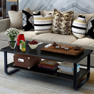 Coffee Table Wooden Top Storage Side Table Bedside Tables Round Home Office